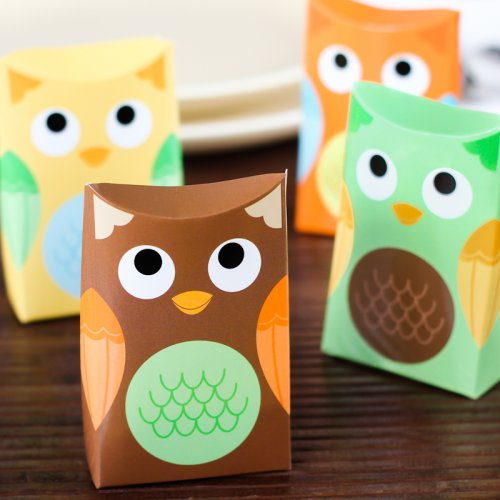 Non-personalized Owl Favor Boxes