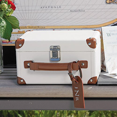 Mini Suitcase Wishing Well with Personalized Tag
