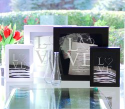 Personalized Love Collection Shadow Box Keepsake and Unity Sand Ceremony Set