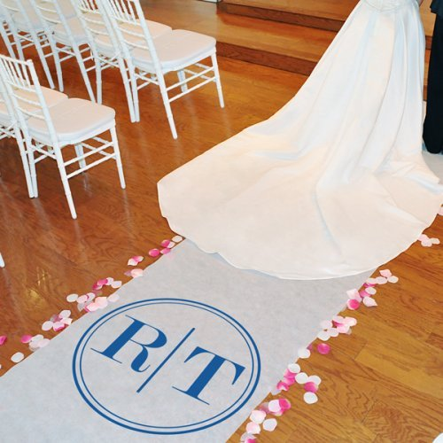 Circle Monogram Aisle Runner