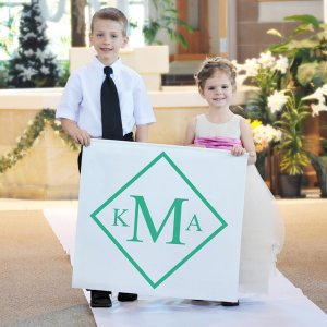 Diamond Monogram Custom Wedding Banner