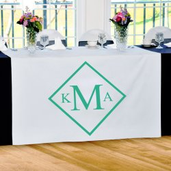 Diamond Monogram Table Runner