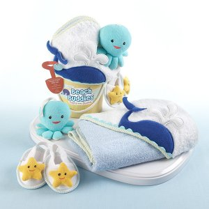"""Beach Buddies"" Bathtime Baby Gift Set"