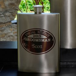 Personalized Wingman's Flask