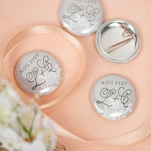 Personalized Bridal Button Pins