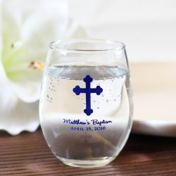 Personalized 9 oz. Party Stemless Wine Glass