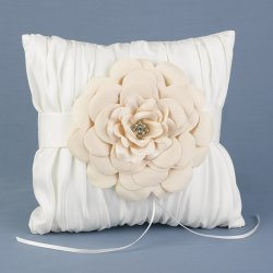 Love Blossoms Ring Pillow