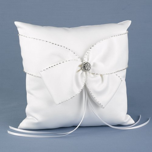 Sparkling Sash Ring Pillow