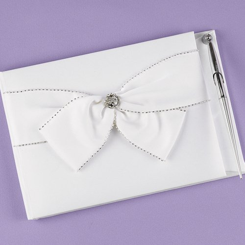 Sparkling Sash Guest Book and Pen Set