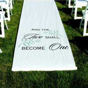 """And the Two Shall Become One"" Aisle Runner"