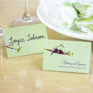 Personalized Love Birds Place Cards