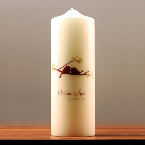 Personalized Love Birds Unity Candle
