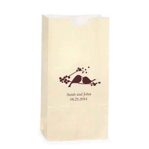 Personalized Love Birds Goodie Bags