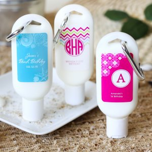 Personalized Birthday Sunscreen Carabinar