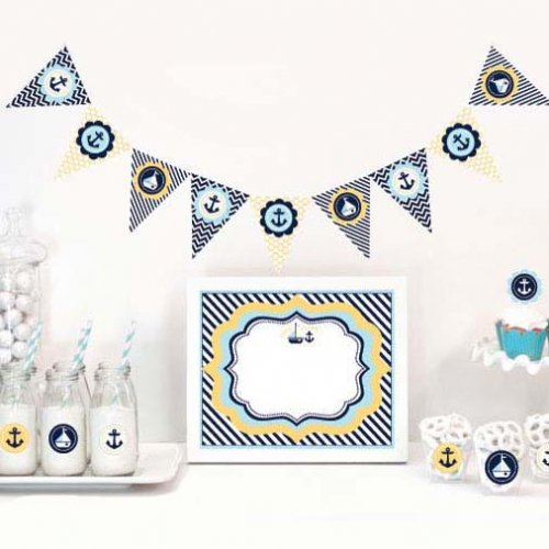 Nautical Baby Shower Themed Party Kit