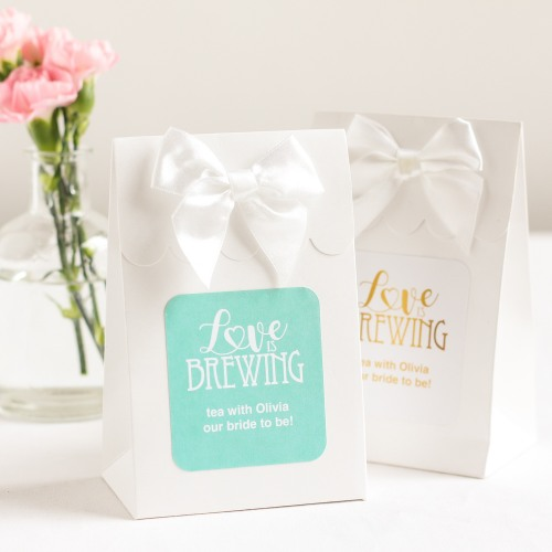 Personalized Love is Brewing Candy Bags