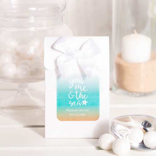 Personalized You Me & the Sea Wedding Themed Candy Bags