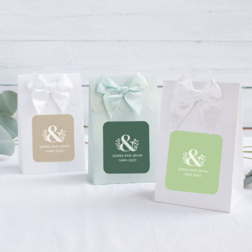 Personalized Eco Ampersand Wedding Themed Candy Bags