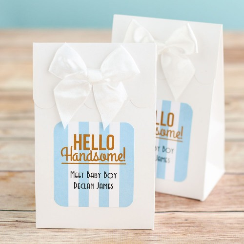 Personalized Hello Handsome Candy Bag