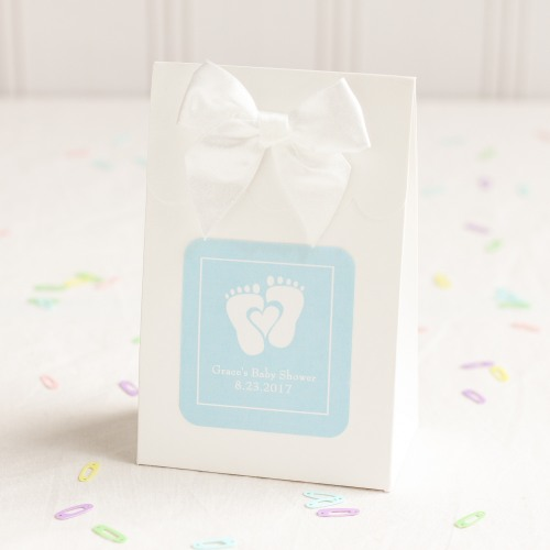 Personalized Baby Feet Shower Themed Candy Bags