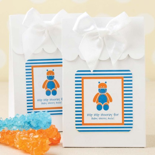 Personalized Baby Stripe Candy Bags
