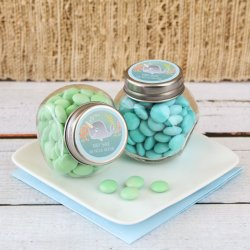 Personalized Baby Shower Themed Candy Jar