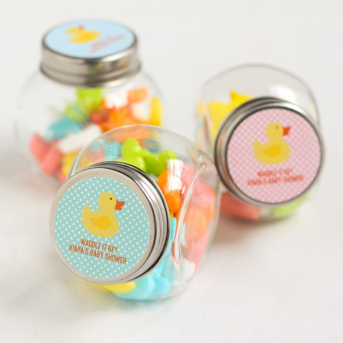 Personalized Duck Candy Jars