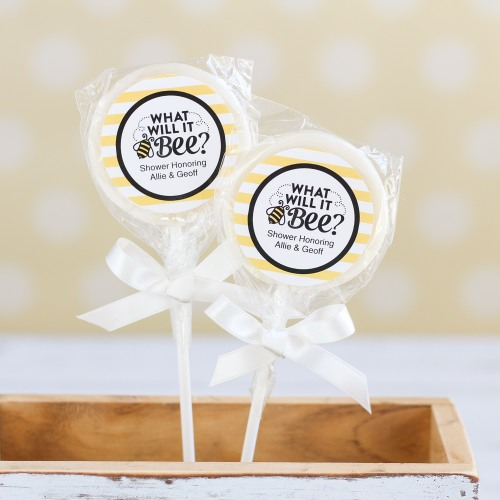 Personalized Bee Reveal Lollipop
