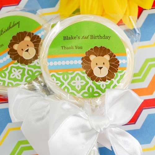 Personalized Birthday Jungle Safari Themed Lollipop