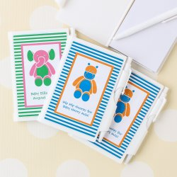 Personalized Baby Shower Themed Notebook Favor
