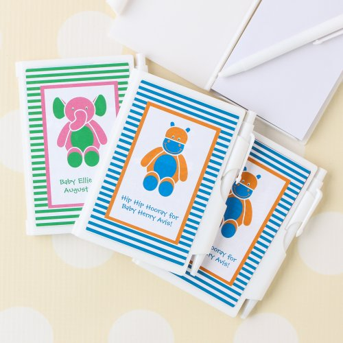 Personalized Baby Stripe Notebook Favor