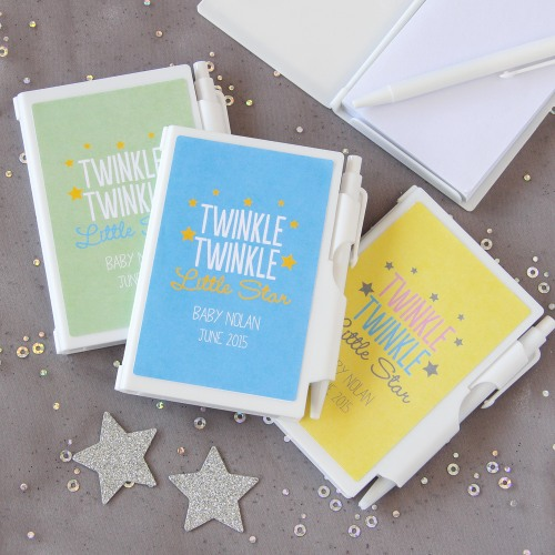 Personalized Baby Shower Notebook