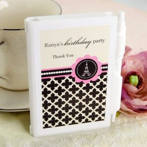 Personalized Birthday Themed Notebook Favor