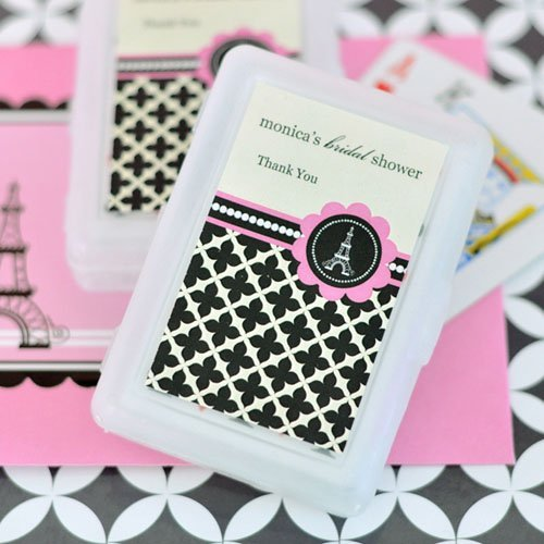 Personalized Paris Themed Playing Cards
