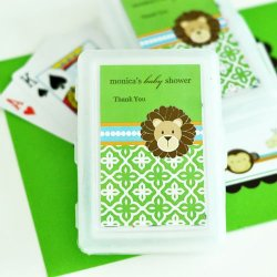 Personalized Baby Shower Themed Playing Cards
