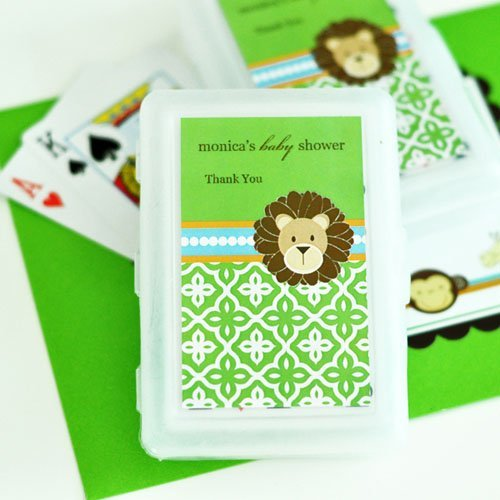 Personalized Baby Jungle Safari Themed Playing Cards