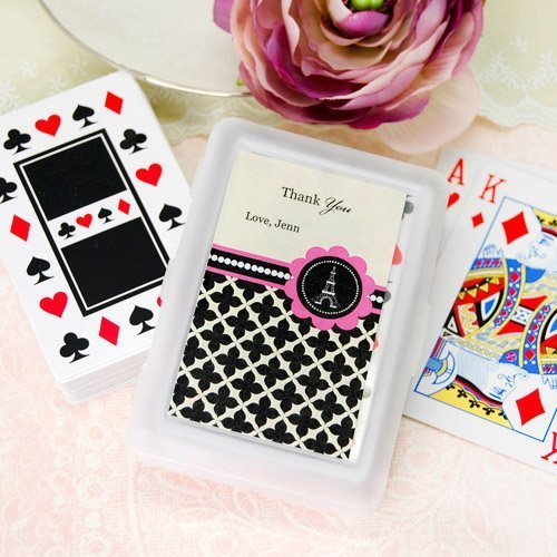 Personalized Paris Party Themed Playing Cards