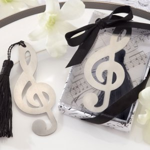 Music Note Openwork Bookmark with Tassel