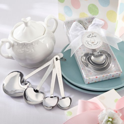 Heart Shaped Measuring Spoons Baby Shower Favor
