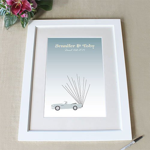 Personalized Vintage Convertible with Balloons Signature Frame
