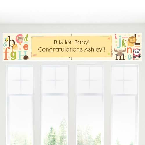 Personalized Baby Shower Alphabet Themed Banner