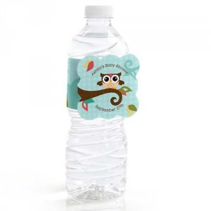 Personalized Baby Shower Water Bottle Label