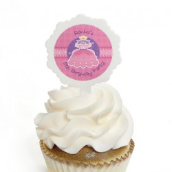 Personalized Kids Birthday Cupcake Picks
