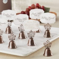 Fall Leaf Bell Place Card/Photo Holders