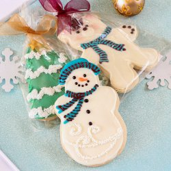 Holiday Winter Themed Cookies
