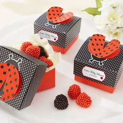 Personalized 3-D Wing Ladybug Favor Boxes