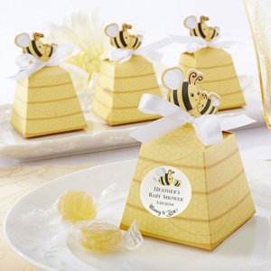 """Sweet as Can Bee"" Personalized Beehive Favor Boxes"