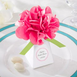 Personalized Pom Pom Favor Boxes