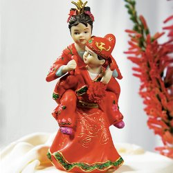 Traditional Asian Couple Cake Topper