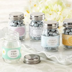 Personalized Mini Glass Mason Jars